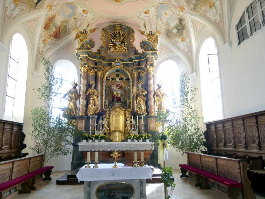 Johann Baptist Zimmermann: Altarraum (1702 bei einem Brand zerstört), 1701