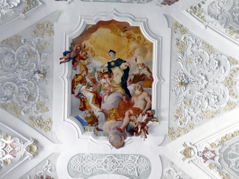 Johann Baptist Zimmermann: Fresken unter der Empore und im Gewölbe, 1718 - 1719