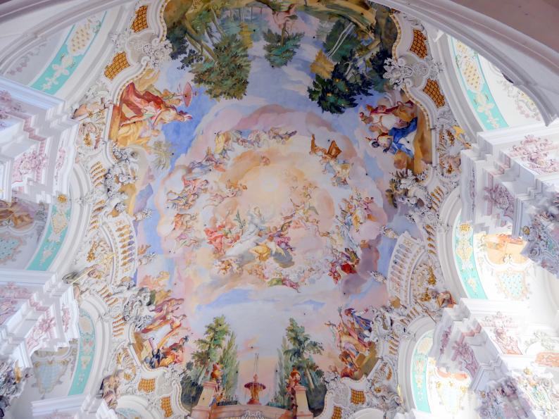Johann Baptist Zimmermann: Fresken: 1730 Chorfresko, 1731 übrige Fresken (Mitarbeit Johann Joseph Zimmermann), 1730 - 1731