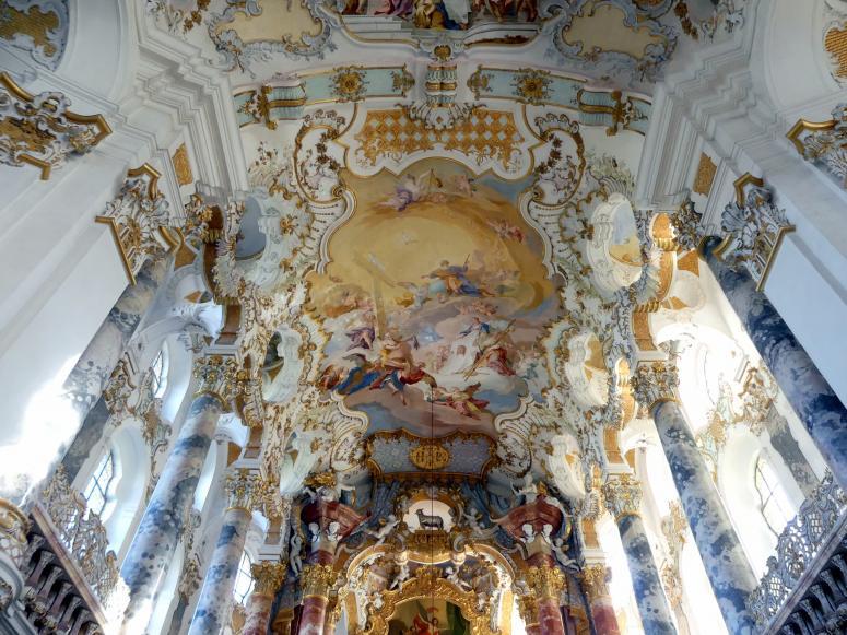 Johann Baptist Zimmermann: Fresken im Chor, 1749