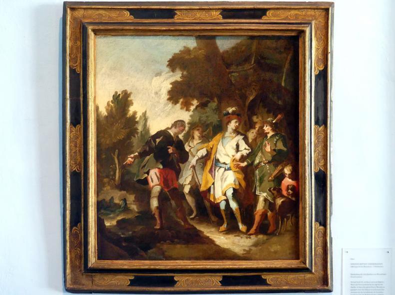 Johann Baptist Zimmermann: Entdeckung der drei Quellen von Wessobrunn, 1754