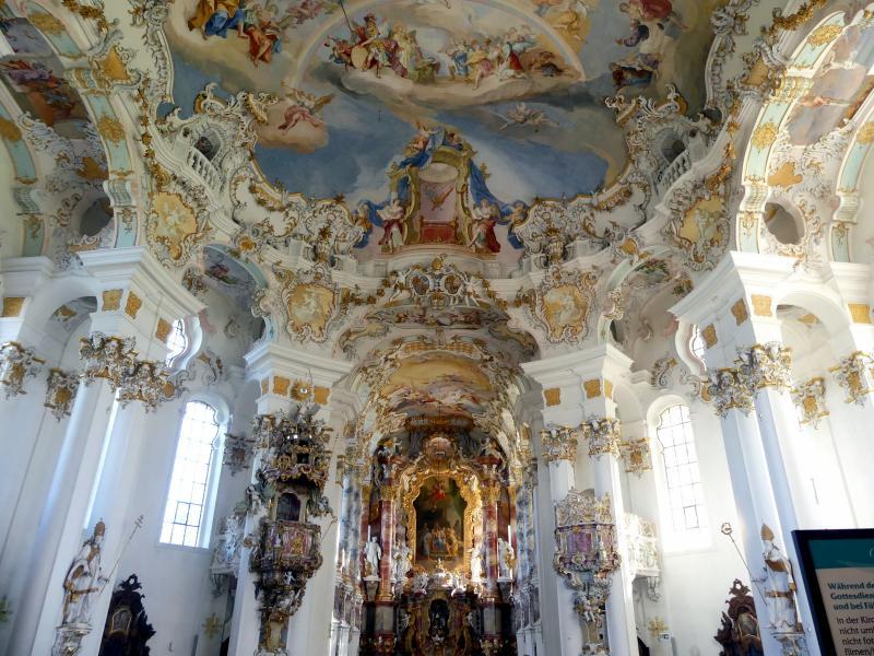 Johann Baptist Zimmermann: Fresken im Hauptraum, 1753 - 1754