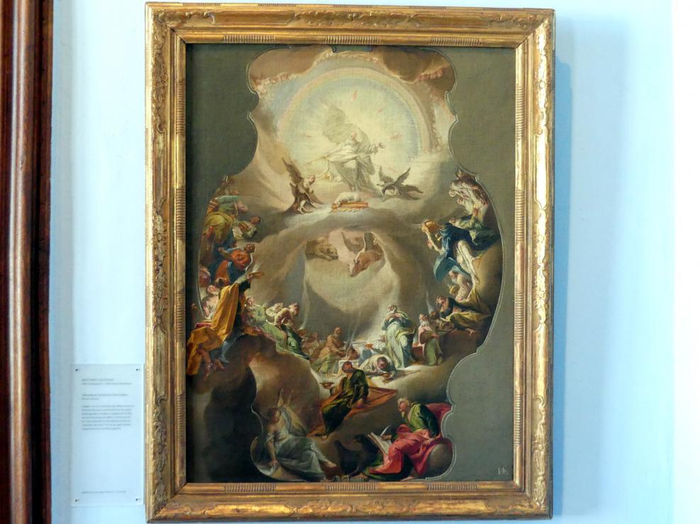 Matthäus Günther: Entwurfsgemälde Anbetung des Apokalyptischen Lammes, 1745
