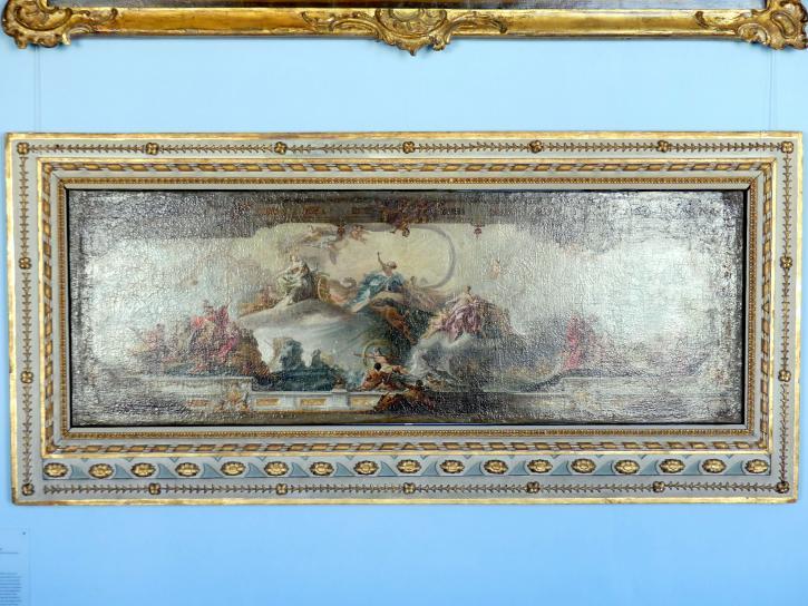 Matthäus Günther: Ölgemälde Die Meerfahrt des Aeneas, sein Treffen mit Evander. Die Übergabe der Waffen an Aeneas (Eigenhändige Kopie), 1757
