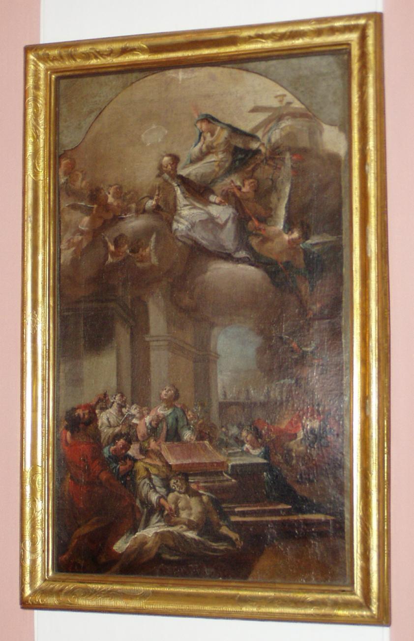 Matthäus Günther: Ölskizze Glorie und Martyrium des Hl. Nepomuk, 1759