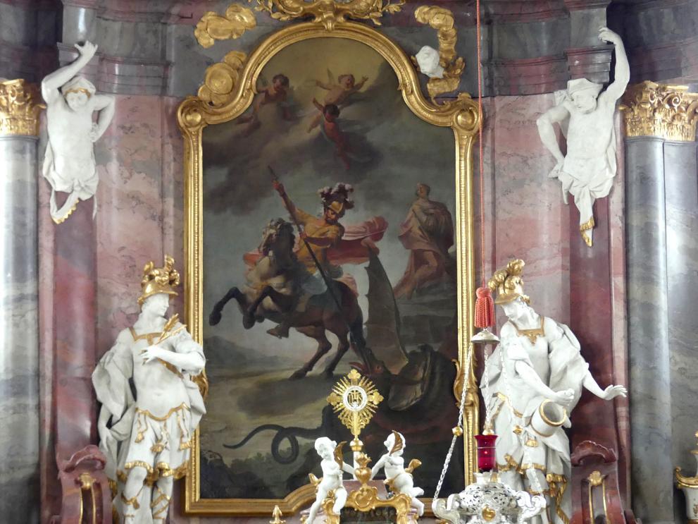 Matthäus Günther: Choraltarblatt Der Hl. Georg, 1766