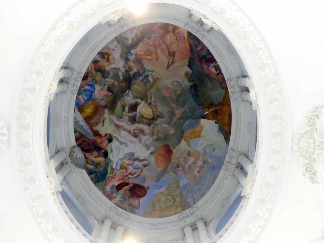 Cosmas Damian Asam: Laternenfresko Venus läßt bei Vulkan die Waffen des Aeneas schmieden, 1720 - 1721