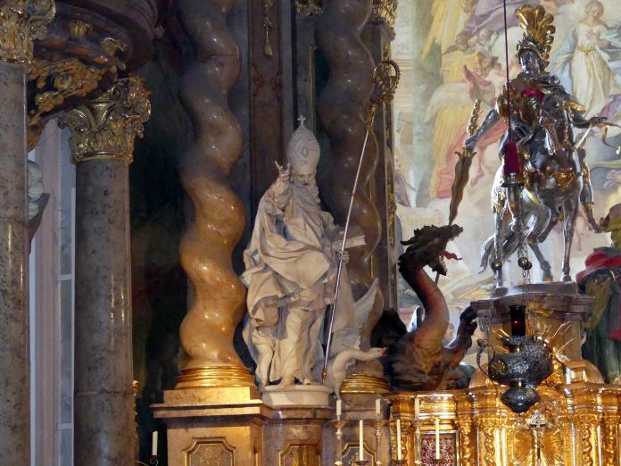 Egid Quirin Asam: Statue St. Martin am Hochaltar, 1721 - 1735