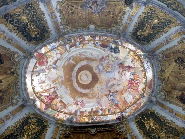 Egid Quirin Asam: Reliefierte Kuppelschale über dem Ovalraum, 1720