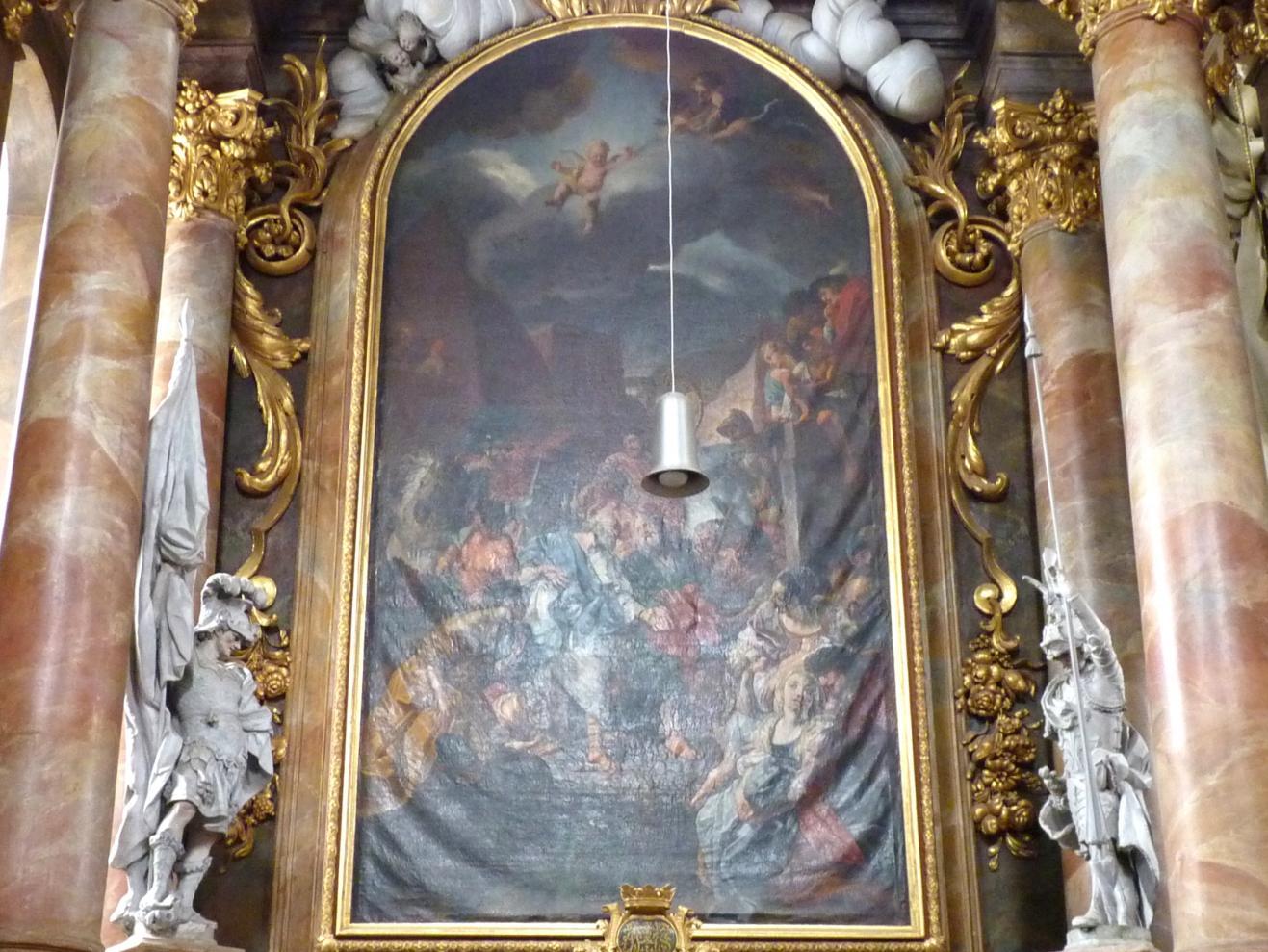Cosmas Damian Asam: Altarblatt Abschied der Apostel Petrus und Pauls im nördlichen Querschiff, 1721 - 1723