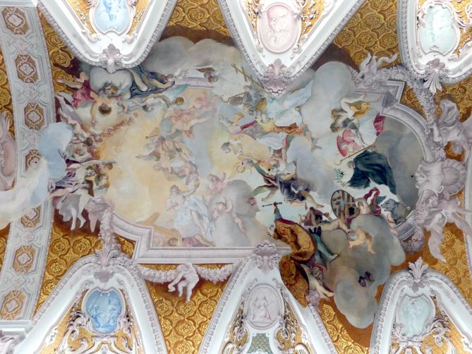 Cosmas Damian Asam: Freskendekoration im Langhaus, 1723 - 1724
