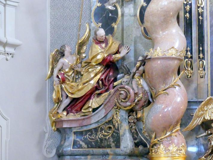 Egid Quirin Asam: Skulpturen am Hochaltar Hl. Karl Borromäus und Hl. Ignatius, 1738 - 1739