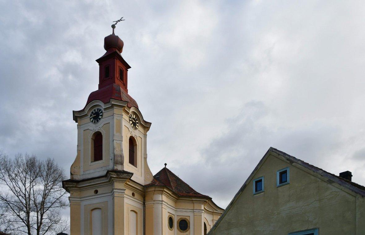 Kilian Ignaz Dientzenhofer: Entwurf für den Bau der Pfarrkirche St. Adalbert, 1724 - 1726
