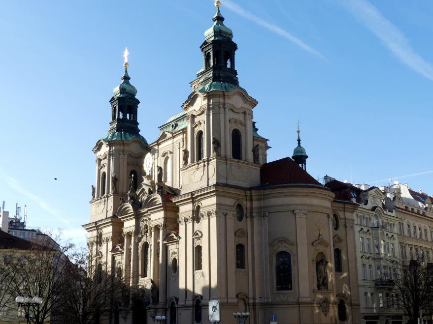 Kilian Ignaz Dientzenhofer: Neubau der Kirche St. Nikolaus in der Prager Altstadt, 1732 - 1735