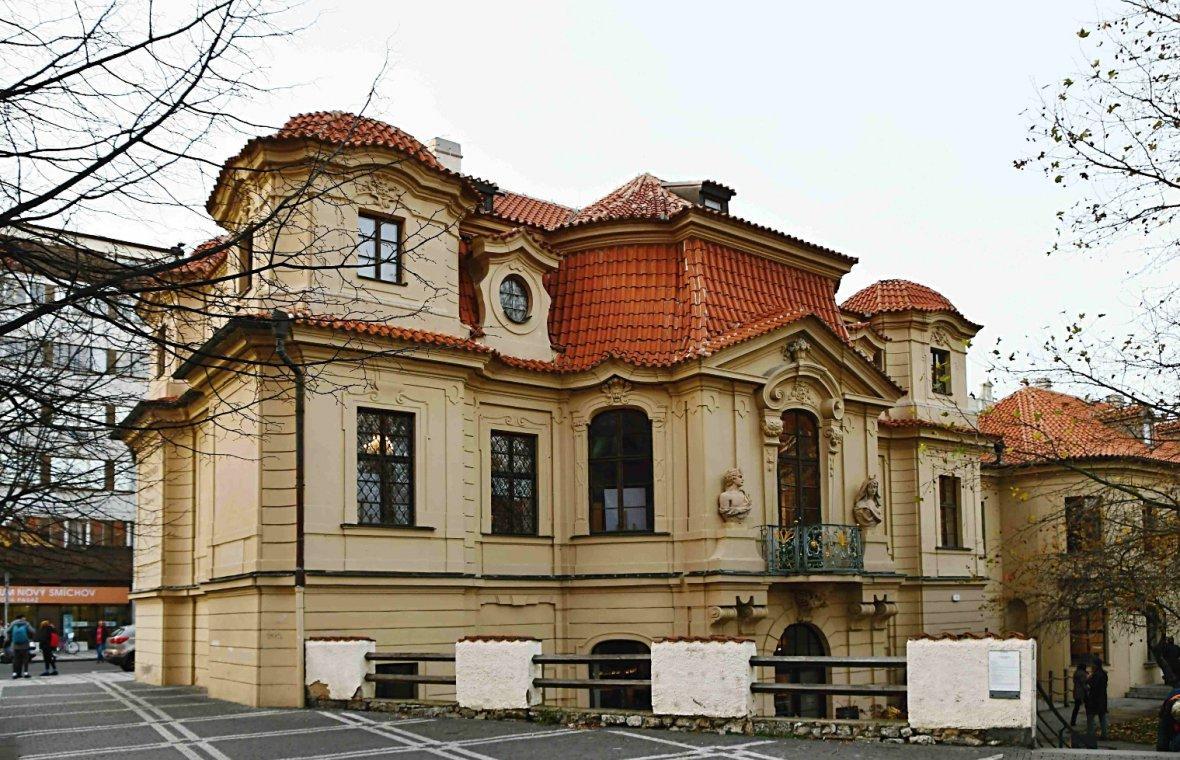Kilian Ignaz Dientzenhofer: Bau des eigenen Sommerhauses, heute 'Villa Portheim', Fresko im Hauptsaal von Wenzel Laurenz Reiner, 1725 - 1728