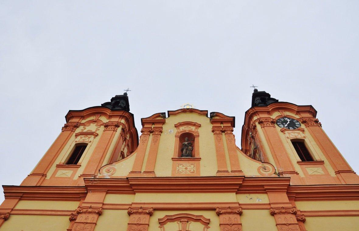 Kilian Ignaz Dientzenhofer: Umbau und Erweiterung der Johann-Nepomuk-Kirche in Nepomuk (ursprünglich Johannes dem Täufer-Kirche, Heiligsprechung Johann Nepomuks 1729), 1734 - 1738