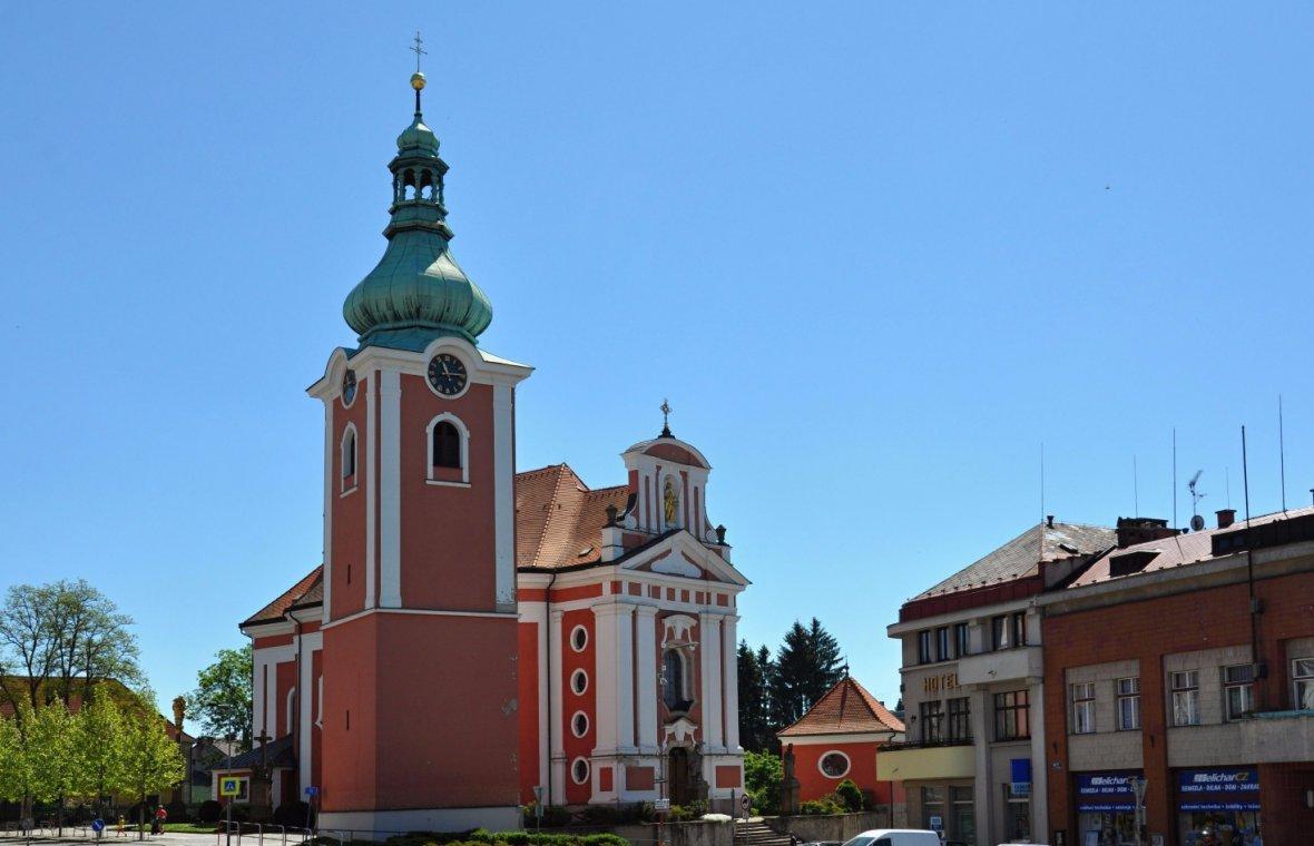 Kilian Ignaz Dientzenhofer: Bau der Pfarrkirche Jakobus der Ältere (Zuschreibung), vollendet nach dem Tod 1754, 1744 - 1751