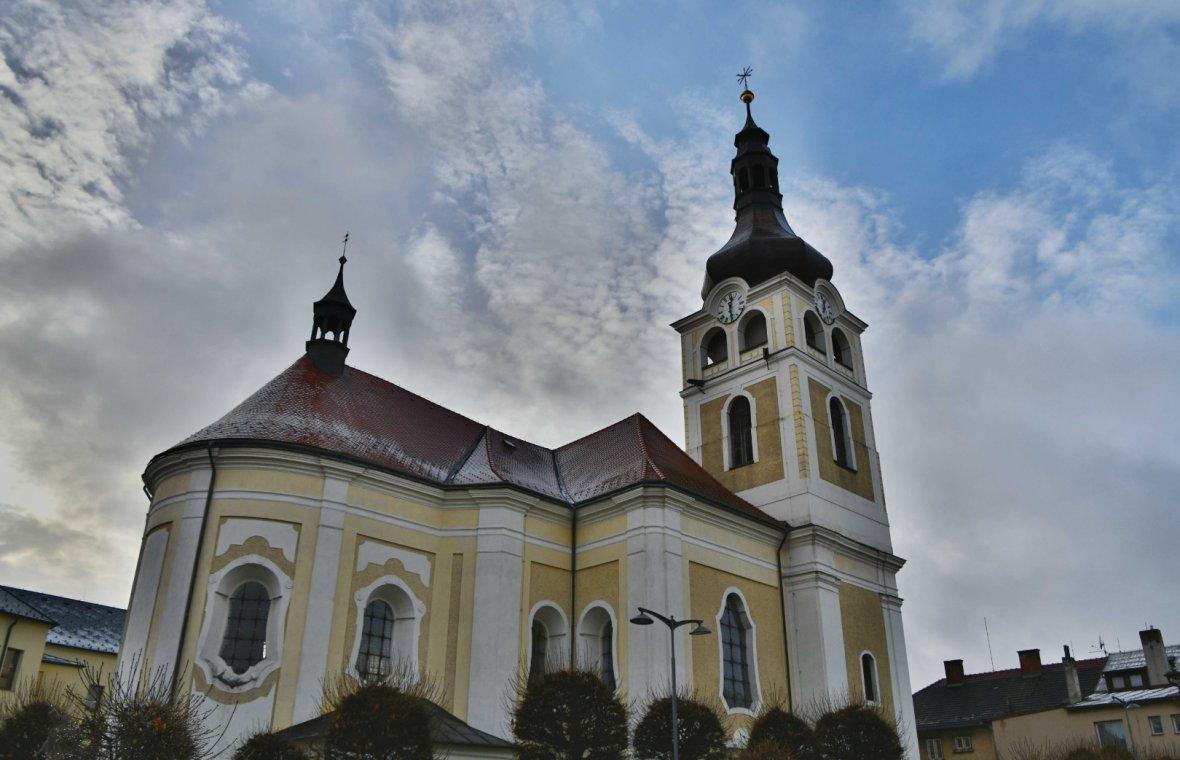 Kilian Ignaz Dientzenhofer: Beteiligung am Umbau der gotischen Kirche Mariä Geburt, Turmvollendung 1748 (Zuschreibung), 1741 - 1744