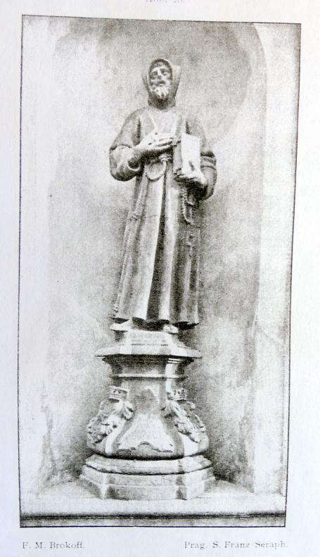 Ferdinand Maximilian Brokoff: S. Franz Seraficus und zwei Engel, 1708
