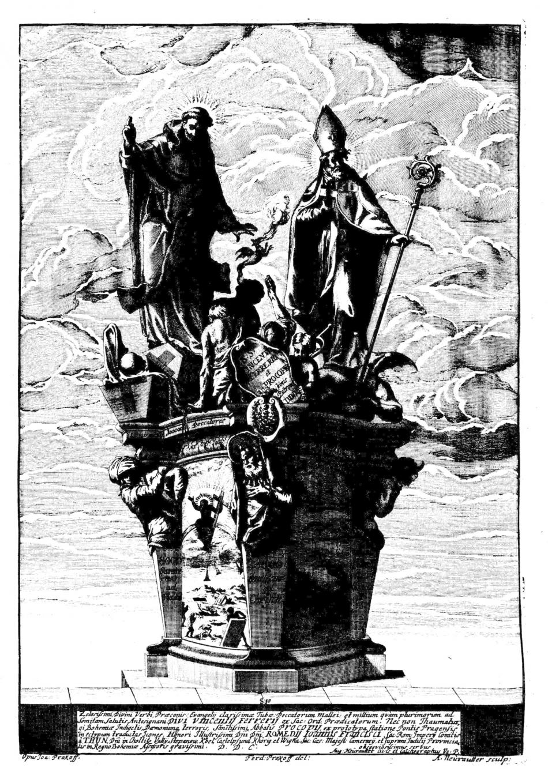 Ferdinand Maximilian Brokoff: Die Heiligen Vinzenz Ferrerius und Prokop, 1712