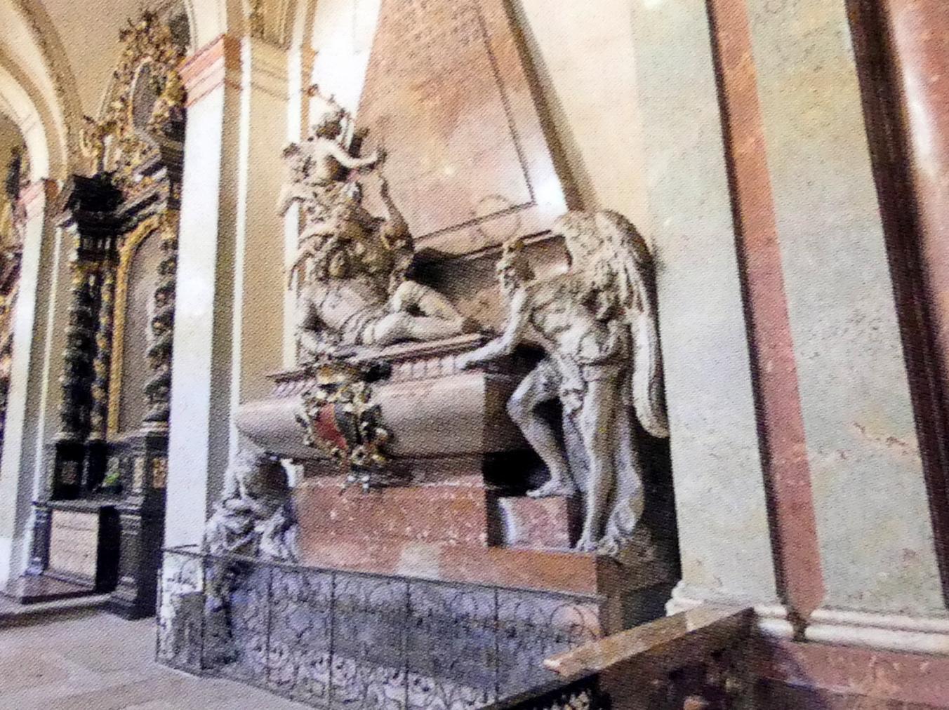 Ferdinand Maximilian Brokoff: Grabmal des Grafen Johann Wenzel Wratislaw von Mitrowitz nach einem Entwurf von Fischer von Erlach, 1715 - 1716