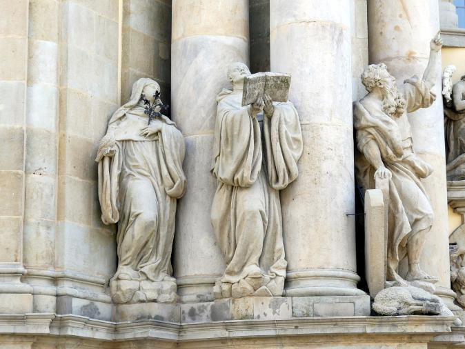 Ferdinand Maximilian Brokoff: Moses, links vom Hauptportal, 1729 - 1730