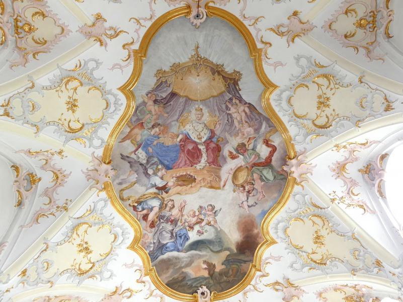 Christoph Thomas Scheffler: Chorfresko Maria als Himmelskönigin, 1754