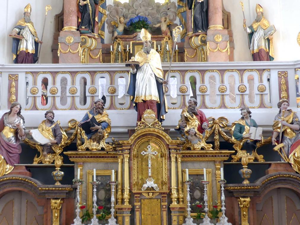 Christian Jorhan der Ältere: Vier Evangelistenbüsten, heute über dem Hochaltar, Undatiert