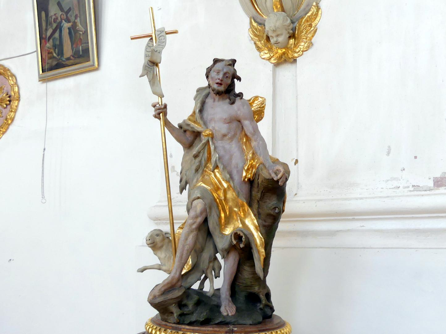 Christian Jorhan der Ältere: Johannes Baptist auf dem Taufdeckel, 1791