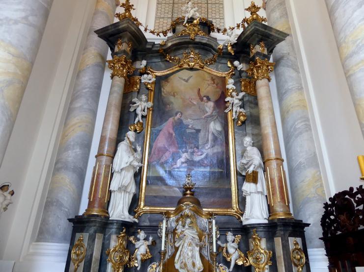 Christian Jorhan der Ältere: Vier Statuen für die rückwärtigen Seitenaltäre, 1779