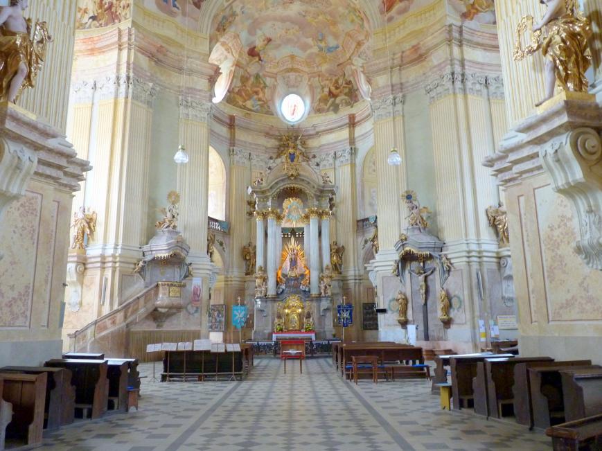Johann Blasius Santini Aichel: Abschluß des Presbyteriums der Pfarrkirche der Hl. Dreifaltigkeit, 1718 - 1723