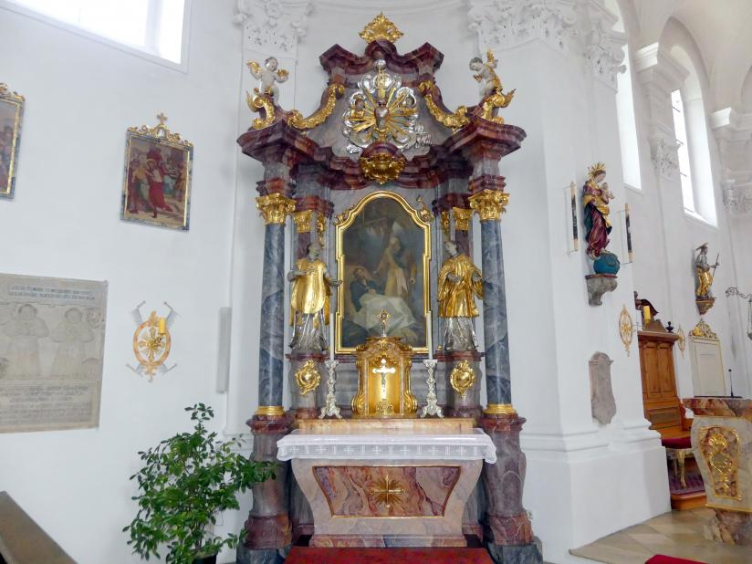 Simon Sorg: Franz-Xaver-Seitenaltar, ehem. Altar der Franz-Xaver-Kapelle, 1751 - 1752