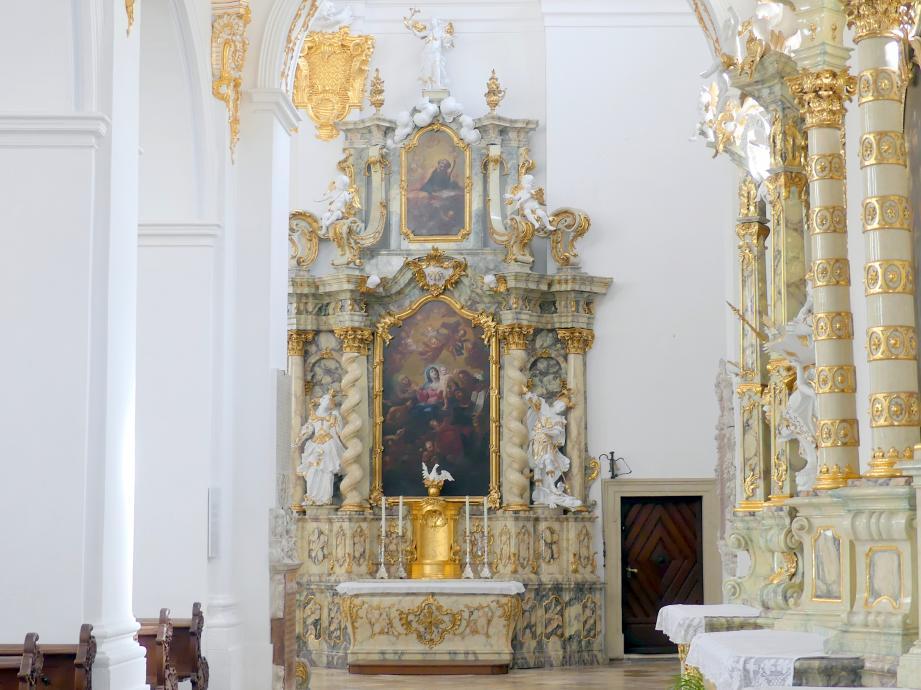 Simon Sorg: Neuornamentierung und Ausbesserung der Seitenaltäre Hl, Briccius und Hl. Johannes (heute Anna-Altar), 1768