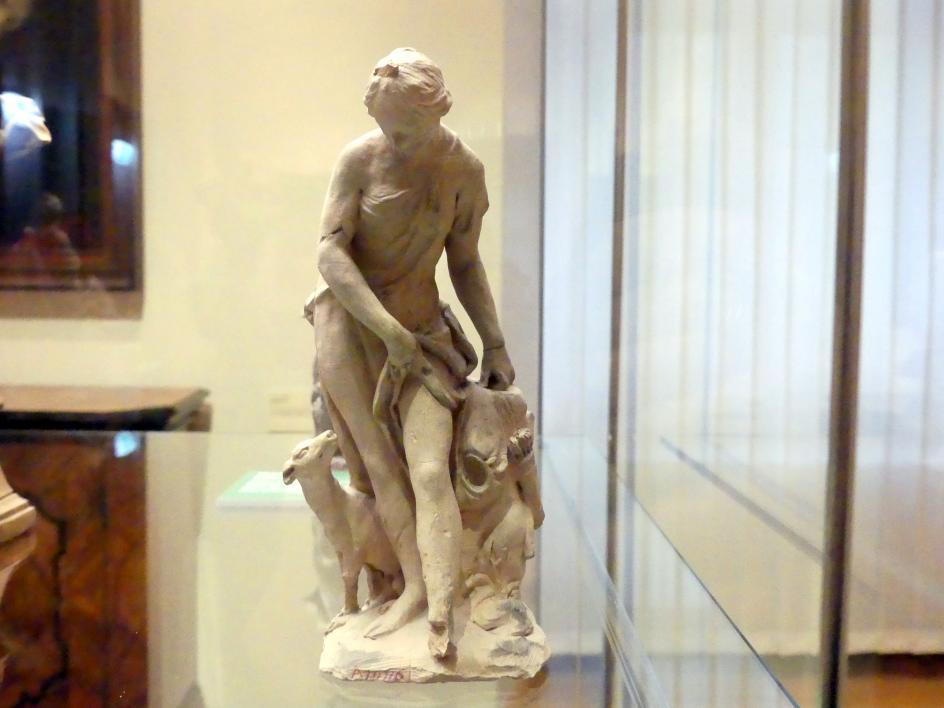 Johann Peter Wagner: Bozzetto Diana zu der Statue des Diana-Bades in der 1945 zerstörten Kaskade im Garten des Sommerschlosses Veitshöchheim, 1772 - 1773