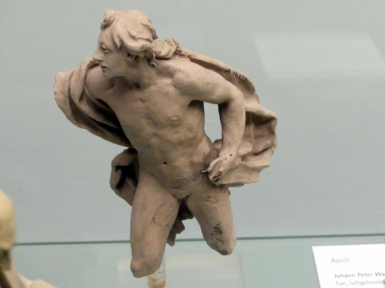 Johann Peter Wagner: Bozzetto Apollo zu der Statue in der östlichen Dreieckzone des Gartens des Sommerschlosses zu Veitshöchheim, 1772 - 1775