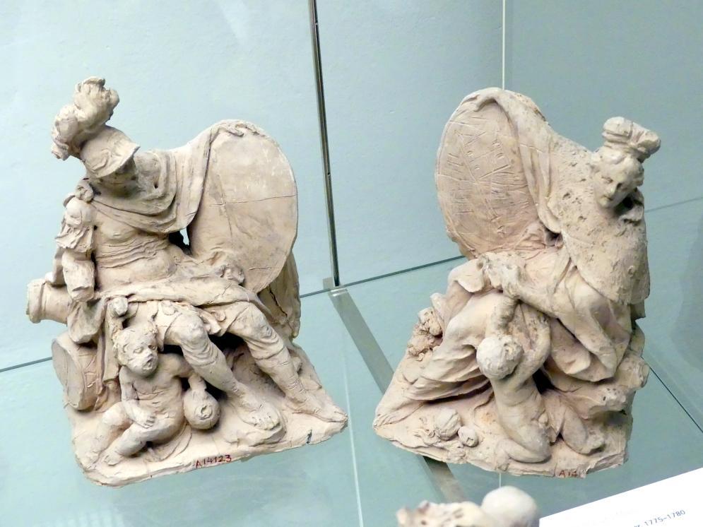 Johann Peter Wagner: Bozzetto Mars zu einer Sandsteingruppe im Gartens der Würzburger Residenz, heute in Worms, Kunsthaus Heylshof, 1775 - 1780