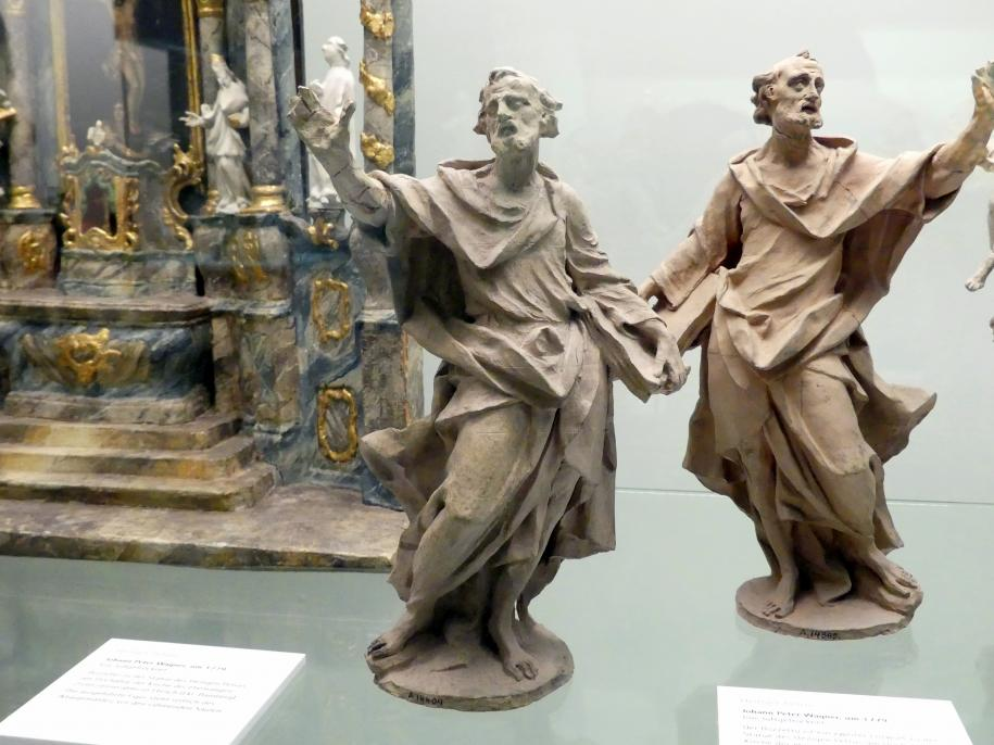Johann Peter Wagner: Bozzetto Hl. Petrus zu der Statue des Hochaltars der ehem. Zisterzienserabteikirche Ebrach, 1779