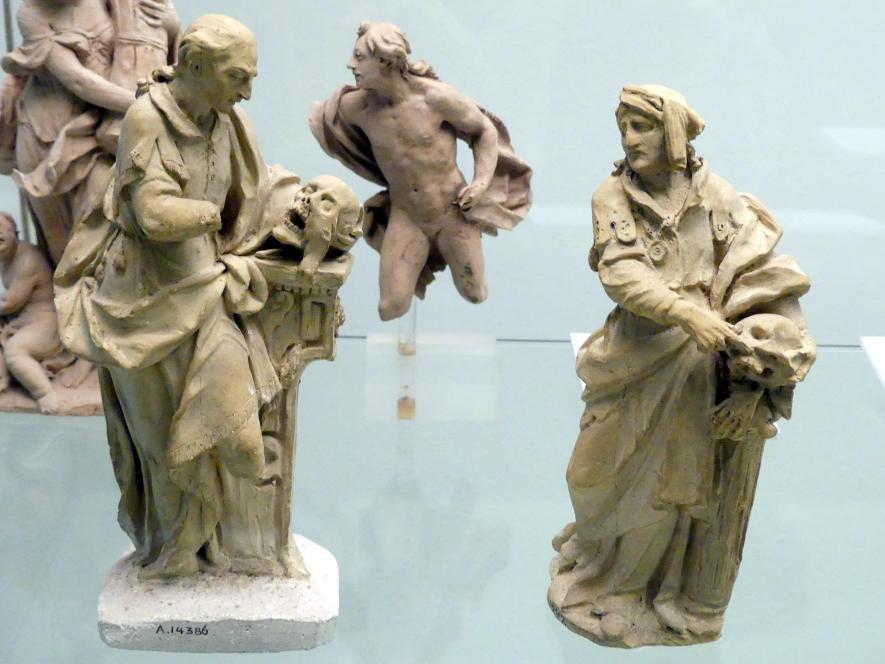 Johann Peter Wagner: Bozzetto zweier Anatome zu der Statue an der Außenseite des Pavillons (der alten Anatomie) des Juliusspitals Würzburg, 1788 - 1789