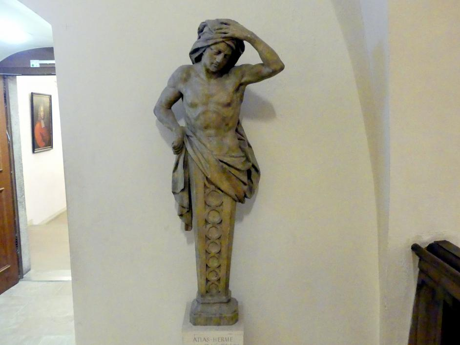Johann Peter Wagner: Atlas-Herme aus dem Treppenhaus eines Würzburger Hauses, 1775 - 1780