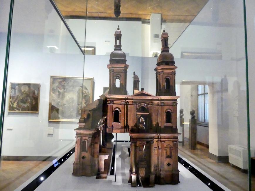 Balthasar Neumann: Holzmodell der Klosterkirche der Benediktinerabtei Münsterschwarzach, 1726