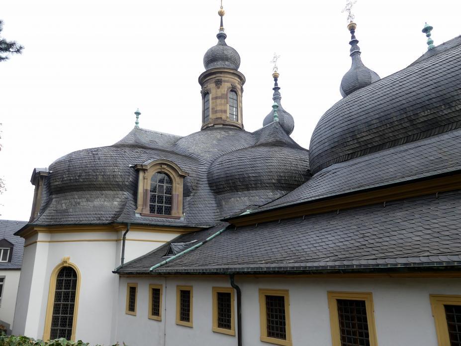 """Balthasar Neumann: Bau der Wallfahrtskirche Mariä Heimsuchung auf dem Nikolausberg (""""Käppele""""), 1748 - 1749"""