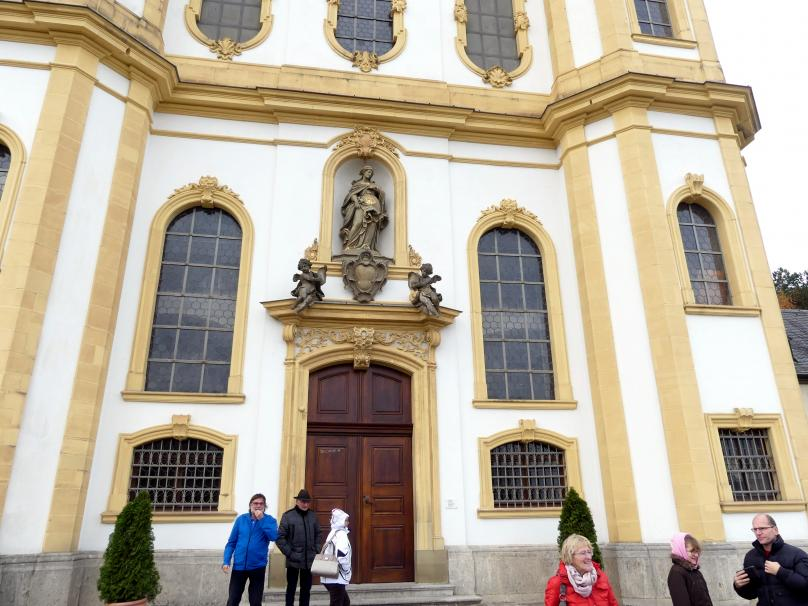 """Balthasar Neumann: Bau der Wallfahrtskirche Mariä Heimsuchung auf dem Nikolausberg (""""Käppele""""), 1748 - 1749, Bild 4/6"""