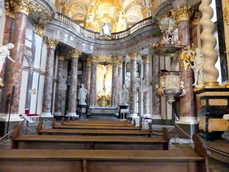 Balthasar Neumann: Bau der ehem. Hofkirche Allerheiligste Dreifaltigkeit in der Residenz Würzburg, 1732 - 1743