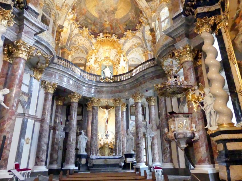 Balthasar Neumann: Bau der ehem. Hofkirche Allerheiligste Dreifaltigkeit in der Residenz Würzburg, 1732 - 1743, Bild 2/5