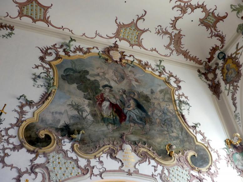 Gottfried Bernhard Göz: Fresken in der Stiftspfarrkirche St. Kassian in Regensburg ( alle von Göz außer das große Deckenfresko im Mittelschiff von Otto Gebhard), 1754 - 1758