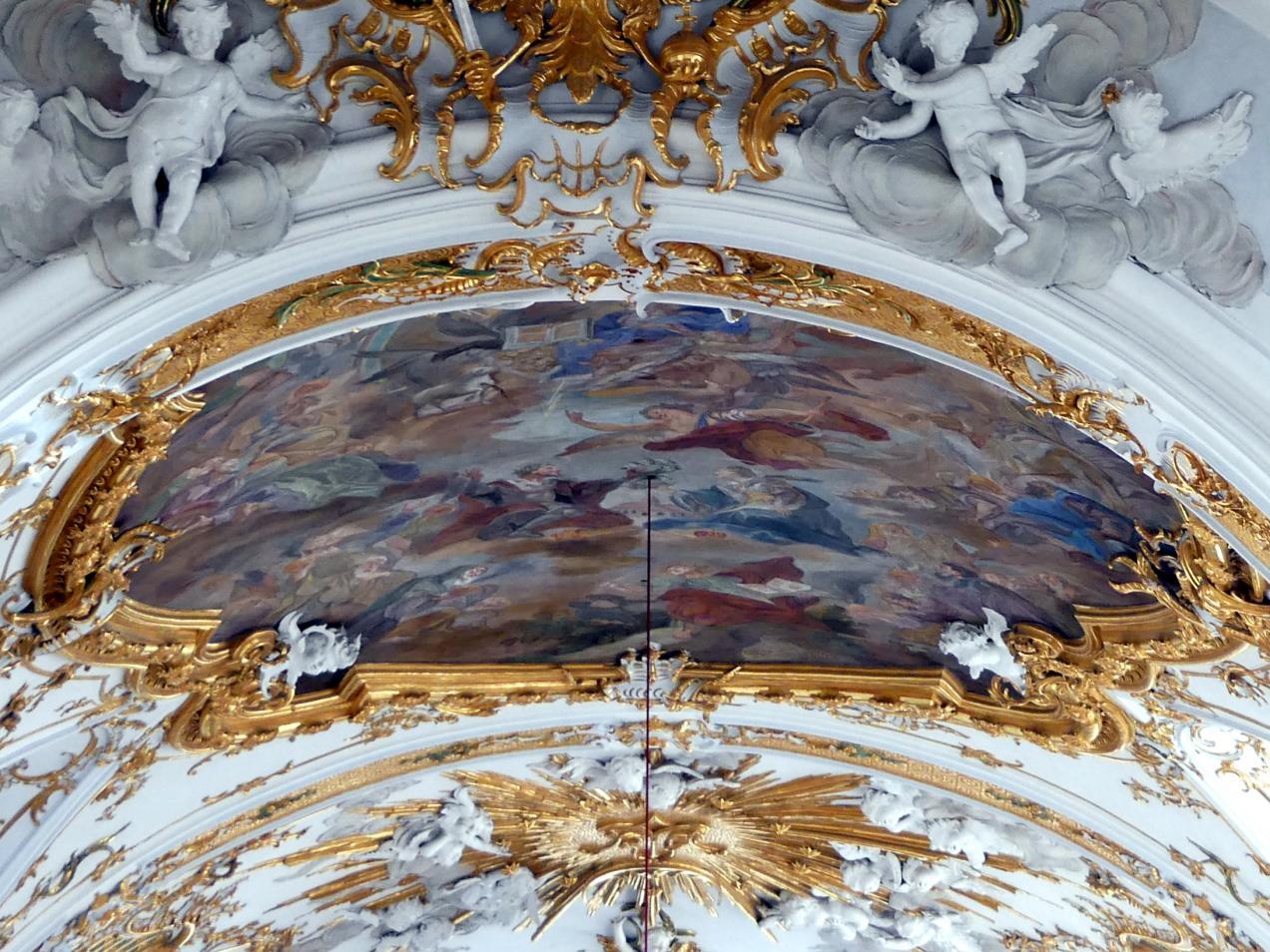 Gottfried Bernhard Göz: Deckenfresko im Chor der Stiftskirche Unserer Lieben Frau zur Alten Kapelle in Regensburg, 1762