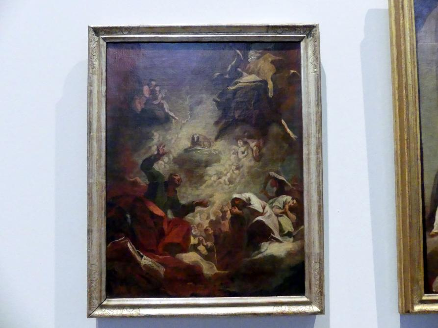 """Franz Joseph Spiegler: Ölskizze """"Verehrung des apokalyptischen Lammes"""", 1747"""