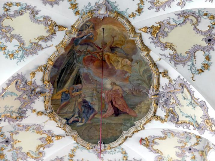 """Otto Gebhard: Chorfresko """"Die Berufung der Apostel Petrus und Andreas"""", 1738"""