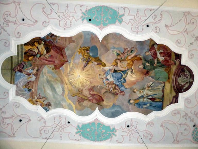 Johann Gebhard: Langhausfresko 'Maria als Fürsprecherin für die Menschheit', 1738 - 1739