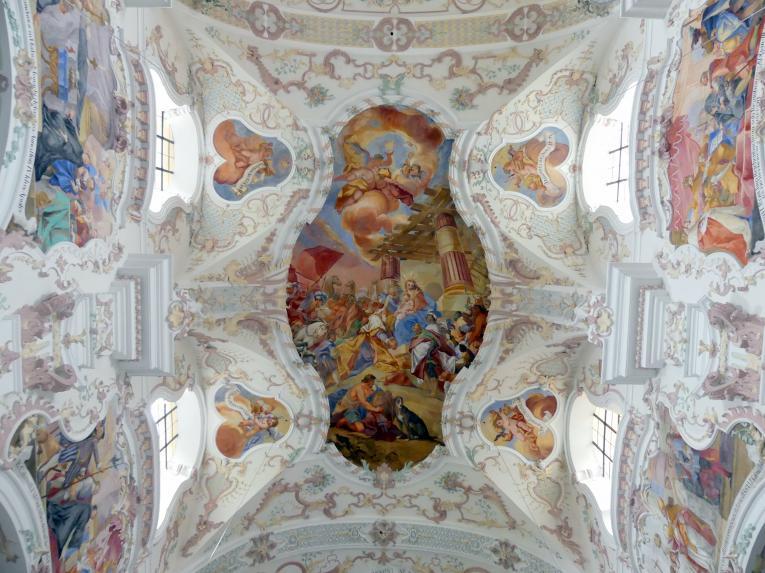 """Otto Gebhard: Fresko im 3. und 4. Joch von Westen """"Die Anbetung der Könige"""", 1743 - 1744"""
